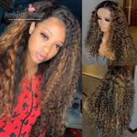 Preferred 13x6 Curly Human Hair Wig Pre Plucked 360 Lace Frontal With Baby Remy Brazilian Highlight For Black Women1