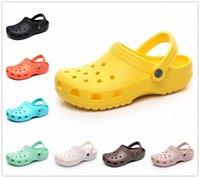 Hommes Sandales 2021 Pantoufles Crok-Crocks Crocks chaussures Eva Sandalias Summer Beach Cholas Hombre Bayaband Croc V3FV #