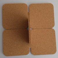 Square Wood Coffee Cup Mat Heat Resistant Cork Coaster Tea Drink Wine Anti-slip Pads Table Water Bottles Coasters DH8785