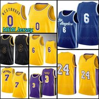 Russell 0 Westbrook Basquetebol Jersey Los 7 Carmelo Davis 3 Anthony 23 6 Espaço Jam Angeles Talen 5 Horton-Tucker Tune Squad Black LBJ Mamba Men Lower Mission 2021 8