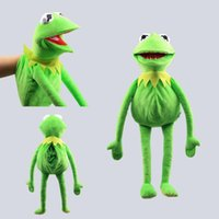 Cartoon Large Kermit Hand Puppet Sesame Street Party Plush Puppet Toys Talk Show For Boy And Girl Gifts Drop shipping