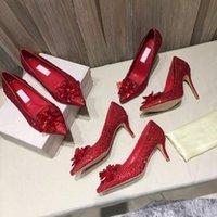 Summer Women Bridal Shoes Shoes Shoes Grado Cinderella Scarpa in cristallo con fiore in vera pelle tacco alto con tacco alto grande dimensioni 34-42