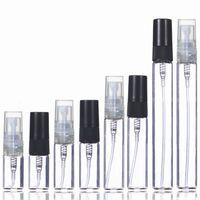 2ml 3ml 5ml 10ml Plastic Glass Mist Spray Perfume Bottle Small Parfume Atomizer Travel Refillable Sample Vials#414