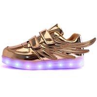 Jawykids Новые USB зарядки светящиеся кроссовки детей бегущий светодиодные крылья дети светильны световые туфли девушки мальчики мода обувь 1007