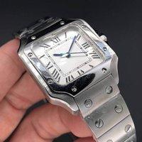 Joan007 Casual Square Watch 33mm Нержавеющая сталь Браслет Мода Женщины Часы Кварцевые наручные часы Хороший подарок