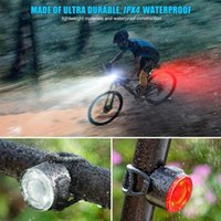Bike Lights Rechargeable Bright COB Warning Tail Light Night Riding Waterproof Bicycle Taillight Easy Mount Outdoor Sports