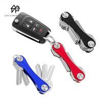 Hooks & Rails Portable Smart Pocket Key Wallet Keychain Keyring Wallets Compact Aluminum Multi-functional Clip Ring
