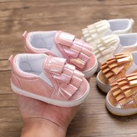 First Walkers Brand Born Infant Baby Girl Kids Shoes Soft Sole Crib Prewalker Toddler Anti-Slip Solid Ruffled