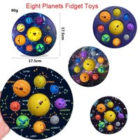 Christmas Fidget Toys Eight Planets 7 continents and 8 oceans Bubble Early Education Decompression Finger Pressing Bubbles Children Bathroom Toy