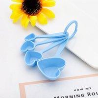 Cuchara en forma de corazón Cucharas de medición de la boda del regalo de la boda del regalo de la fiesta de bienvenida al bebé Favor de la cocina para hornear cucharas de plástico Regalos GWE8008