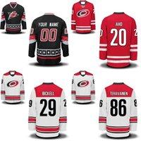 Carolina Hurricanes Jersey 20 Sebastian AHO 21 Lee Stempniak 27 Justin Faulk 29 Andrew Poturalski 53 Jeff Skinner Hockey Jerseys