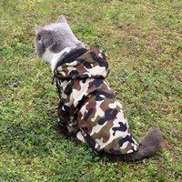 حيوان أليف معطف واق من المطر الكلب الملابس الأزياء التمويه طباعة جرو سترة تيدي bichon البلدغ الحيوانات الأليفة الكلاب الملابس