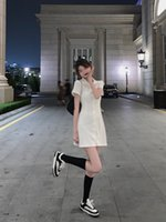 Luxury Casual Dresses Fan Zhiqiao White Polo Dr's Summer Collar Shirt Short Pure Dire Style Small Girl T-shirt Skirt