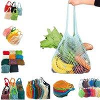 Home Storage Bags Shoppings Grocery Bag Reusable Shopper Tote Fishing Net Large Size Mesh Nets Woven Cotton Portable Shopping BagsOrganization ZC317 ocean ship
