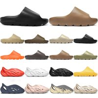Kanye 슬라이드 어린이 키즈 슬리퍼 샌들 신발 트리플 블랙 화이트 레드 수지 뼈 사막 모래 망 여자 슬라이드 슬리퍼 샌들 크기 32-47