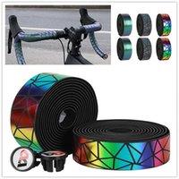 Bike Handlebars &Components Colorful Handlebar Tape Absorption MTB Cycling Handle Non Slip Belt Steering Wheel Cover Bicycle Accessori