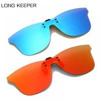 Sonnenbrille Langlehrer Männer Polarisierte Clip-on Gelbe Nacht Fahren Sonnenbrille Klappen Spiegellinsen Frauen für Myopic