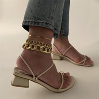 Vintage Punk Multilayer Chunky Chain Anklets For Women Girls Hiphop Snake Chain Leg Ankle Anklet Bracelet 2021 New Jewelry Gift
