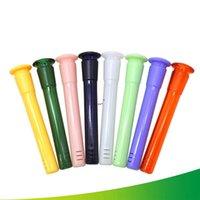 Wasserraucher-Kunststoff-Tondag mit 18mm männlich bis 14mm weiblicher bunte dicke Pyrex-Stamm-Diffusor für Glashukas Bong AHB5828
