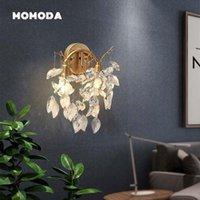Duvar lambası postmodern led lambalar İskandinav ağacı dalı püskül metal kristal altın aplik yatak odası oturma odası koridor ışıkları fikstür