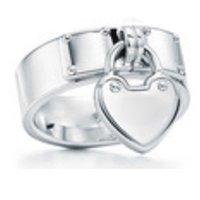 Yeni Hediye 925 Ayar Gümüş Klasik T Logo TIFF Yüzükler Kalp Tiffl Yüzükler Gül Altın Gümüş Takı Maç Dünya Takı Kız Için