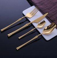 Paslanmaz Çelik Çatal Seti Sofra Altın Bıçak Kaşık Ve Çatal Setleri Yemek Kore Yemek Sofra Takımı Mutfak Aksesuarları