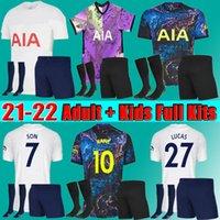 المشجعين + لاعب Tottenham 21 22 Dele Son Bale Kane Soccer Jersey 2021 2022 Hojbjerg Bergwijn Lo Celso Spurs Lucas Football Shirt Men Kids Kit