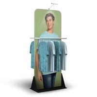 الملابس التجارية عرض راية الإعلان عرض بوتيك خلع الملابس عرض الرف مع مخصص الجرافيك الطباعة شقة تحمل حقيبة التعبئة
