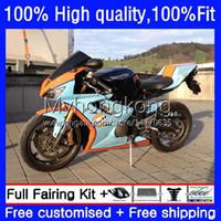 Injection Orange Cyan Bodywork For Triumph Daytona675 Daytona-675 2002 2003 2004 2005 06 07 08 Body 11No.109 Daytona 675 675R 02 03 04 05 2006 2007 2008 OEM Fairings