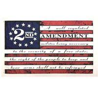 Новая вторая поправка Винтаж Американский флаг Открытый 90 см * 150см Полиэстер пользовательских колледжа Баскетбол Декоративный баннер