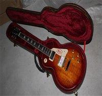 2021 Standard-Teaheburst-LP E-Gitarre, Chrom-Hardware, Ahornkörper, Palisander-Griffbrettgitarre (kein Fall)