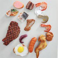 Fridge Magnesy Lodówki Magnes Symulacja Food Dongpo Wołowina Wołowina Ryba Pokrojona Chicken Wings Drumstick Sztuczny fałszywy model rekwizyty