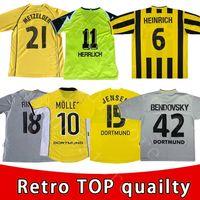 Retro Klasik Futbol Formaları Dede Metzelder Bobic Rosicky Herrlich Möller Amoroso Ricken 1995 1996 1997 Borussia Dortmund Hässler Futbol