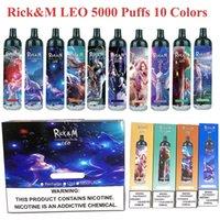 Dispositivo di sigaretta ricaricabile RANDM LEO 5000Puffs RANDM LEO 5000PUFF Penna per sigaretta con luce RGB Light 1100Mah VS RM Legend