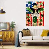Национальный флаг Большая живопись масляными маслом на холсте ДОМАШНЕЕ DECAL RECCARAFTS / HD PRINT Настенная искусство Фотографии Настройка приемлема 21072401