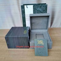 Luxury High Quality Watches Boxes Royal Oak Offshore Original Watch Box Papers Green Wood Leather Handbag For 15202 15710 15500 26320 26703 Wristwatches