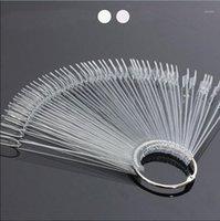 50 adet Temizle Doğal Fan Şeklinde Yanlış Tırnak İpuçları Lehçe UV Jel Sticker Dekorasyon Ekran Sopa Jel Salon Aracı Sahte Nail Art İpuçları