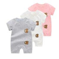 أزياء الصيف مطبوعة ملابس الطفل بذلة المطبوعة بأكمام قصيرة الوليد الطفل صبي فتاة السروال القصير 3-24 أشهر