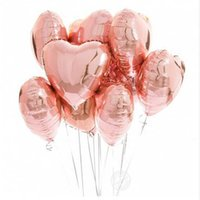 Partigos 18 pouces perle rose rose amour feuille cœur hélium ballons de mariage décor anniversaire anniversaire baby shout wedding fête fournitures y0622