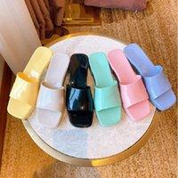 Kaliteli Kadın Terlik Moda Plaj Kalın Alt Terlik Platformu Alfabe Lady Sandalet Deri Yüksek Topuk Slaytları Shoe02 06