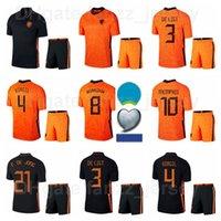 Holanda 2021-2022 Soccer 9 Robin Van Persie Jersey Set National Team 10 Wesley Sneijder 11 Arjen Robben 6 Kits de Futebol Stefan de Vrij