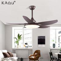 44-дюймовый многоцветный светодиодный столовая столовая вентилятор света потолок простой современный северный стиль живущей спальни вентиляторы люстры