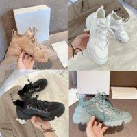 Yeni D-Connect Kadınlar Rahat Ayakkabılar Tasarımcı Elbise Neopren Grogren Kurdele Sneakers Eğik Mektup Platformu Eğitmenler Kutusu 35-41