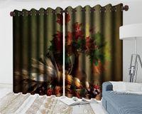 아름 다운 메이플 리프 3D 블랙 아웃 커튼 거실 침실 주방 그림 벽화 현대 가정 장식 창 커튼