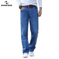 Shan Bao Spring Summer Lightweight Droits Lâche Jeans Classic Style de haute qualité Stretch Mince Mince Denim Jeans 210622