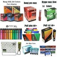 일회용 전자 담배 펜 디바이스 Bang Puff Hyppe Air Bar Posh Plus XXL XTIA Max Flow 550mAh 배터리 800puffs 카트리지 Vape 카트리지