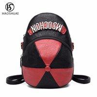 Outdoor Bags Women Leather Hat Backpack Shoulder Crossbody Bag Girls School Back Satchel Letter Print 2021 Casual