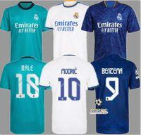 Реал Мадрид Джерси 22 22 Бензема Футбол Джерси Модрические фанаты Игрок версия Опасность Asensio Casemiro Vinicius JR. Футбольная рубашка мужская