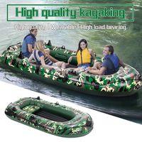 Камуфляж 4-человек 10FT Надувная Dinghy Лодка Рыбалка Рафтинг Водные Спортивные Спортивные Утолщенные Каяк Плотные Трубы