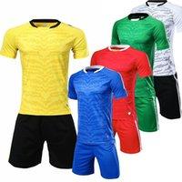 2019 Nuevos Jerseys de fútbol Hombres Deporte Correr Ciclismo Kits de fútbol personalizado Logotipo Número Número de fútbol Uniformes Trajes
